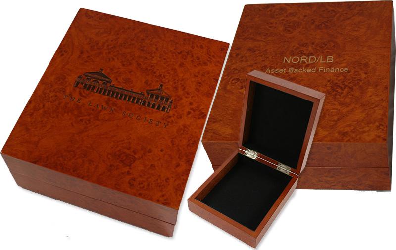 Burl Wood Finish Keepsake Box